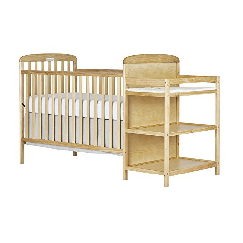 Dream On Me, 4 in 1 Full Size Crib and Changing Table Combo, Natural - Natural Changing Table