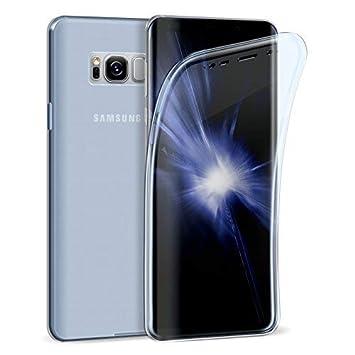 Carcasa Zhinkarts, para móvil Samsung Galaxy S8, para el cuerpo completo, de silicona TPU, carcasa de cristal completa