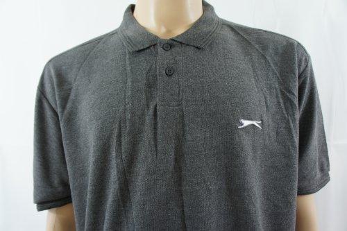 SlazengerHerren Poloshirt Grau Charcoal grey