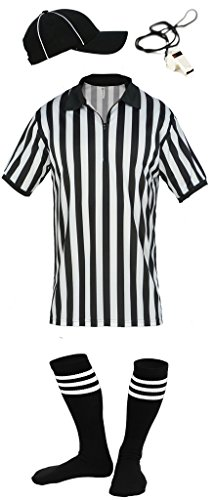 Mato & Hash Mens Referee Shirts/Umpire Jersey with Collar for Officiating + Costumes + More! - RS CA2050ZIP (Cool Referee Costumes)
