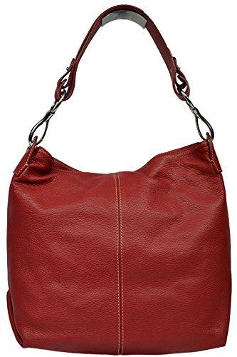 Schöne praktische Leder Rote Handtasche aus Leder Chola Rossa über die Schulter Rot