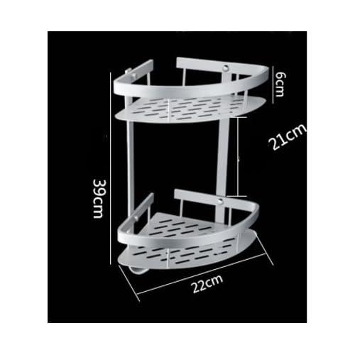 85%OFF Bathroom corners basket/Shelf space aluminum basket-C