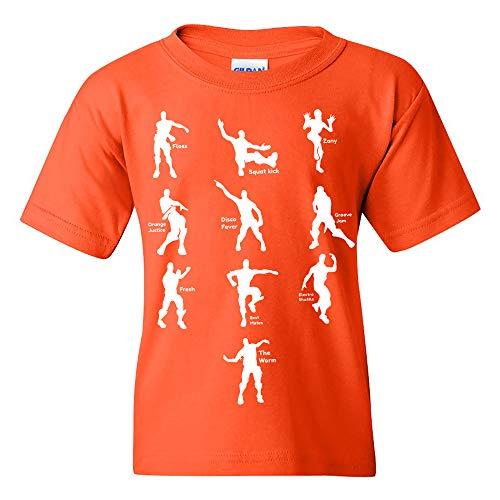UGP Campus Apparel Emote Dances - Funny Youth T Shirt - Large - Orange ()