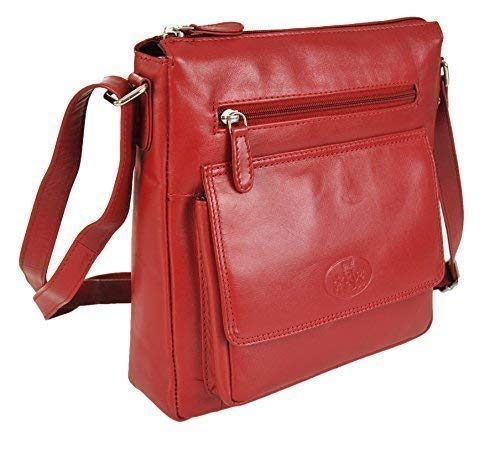 Crossbody Various Colours 9767 In Leather Bag 31 Red Rowallan wqXI5aI