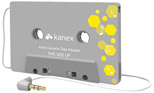 Kanex 3.5 mm Universal Car Audio Cassette Adapter compatible with SmartPhones, Tablets, and MP3 players