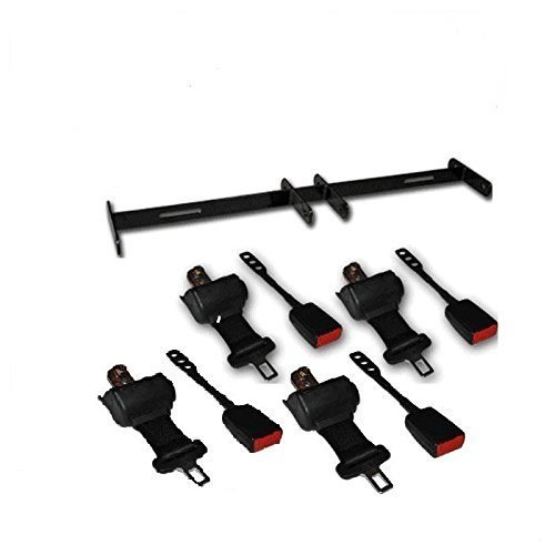 Universal Golf Cart Retractable Kit for 4 Seat Cart Seat Belt Brackets