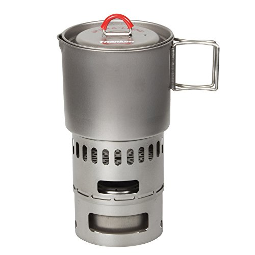Evernew Titanium Mug Pot 500 Stove Set RED ECA268R by EVERNEW