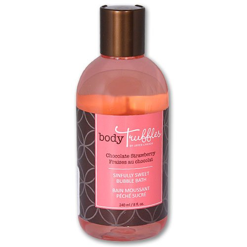 Upper Canada Soap & Candle Body Truffles Sinfully Sweet Bubble Bath, Chocolate Strawberry, 8 Ounce Bottle