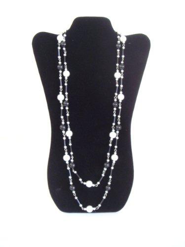 NEW Black Velvet Necklace Jewelry Display Easel 14
