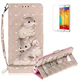 Funyye Folio Wallet Case for Samsung Galaxy S8,Stylish 3D Squirrel Fantasy Painted Design Strap Magnetic Flip Case with Stand Credit Card Holder Slots Soft Silicone PU Leather Case for Samsung Galaxy S8,Full Body Shockproof Non Slip Smart Durable Shell Protective Case with Screen Protector