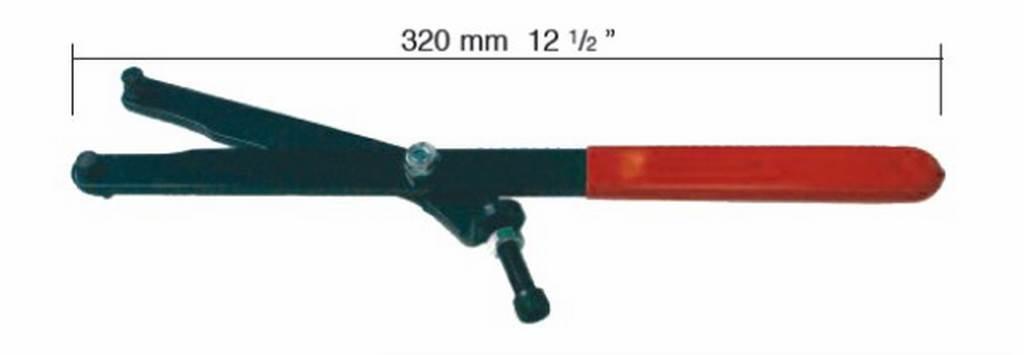 BUZZETTI - 19563 : Herramienta Universal Para Bloquear Volante Y Poleas Con Pins 5/9Mm. Apertura 50-140: Amazon.es: Coche y moto