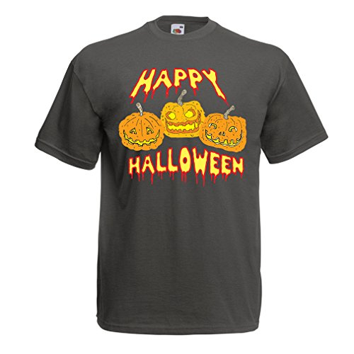 T Shirts for Men Happy Halloween! Party Outfits & Costume - Gift Idea (XXX-Large Graphite Multi -
