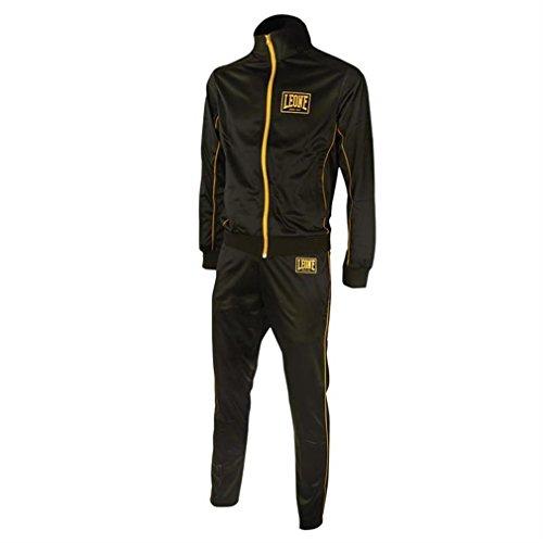 Leone Herren Racerback Trainingsanzug schwarz schwarz