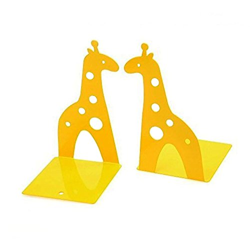 Cute Giraffe Nonskid Bookends Book Ends Organizer Bookend Art Gift,1 Pairs,Yellow by TOBSON (Image #7)