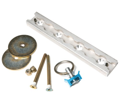 Steadymate 15522 Aluminum Surface Mount L Track Kit with Stud Fitting - Surface Mount Pull