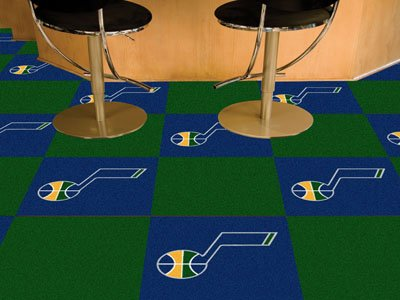 Fan Mats Utah Jazz Carpet Tiles, 18'' x 18'' Tiles
