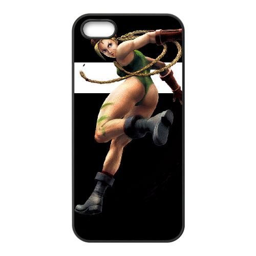 Street Fighter Iv 2 coque iPhone 5 5s cellulaire cas coque de téléphone cas téléphone cellulaire noir couvercle EEECBCAAN02463