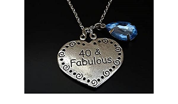Amazon 40 And Fabulous Necklace 40th Birthday For Her 40th
