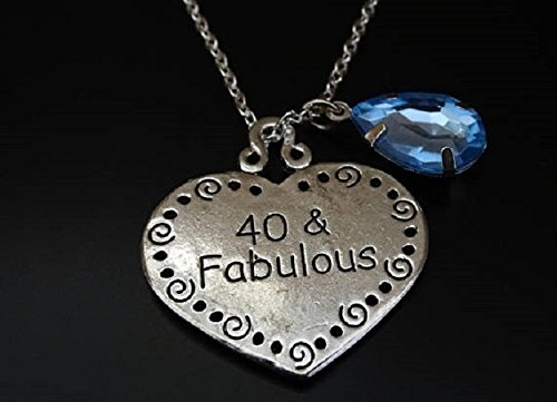 40 And Fabulous Necklace 40th Birthday For Her Gift
