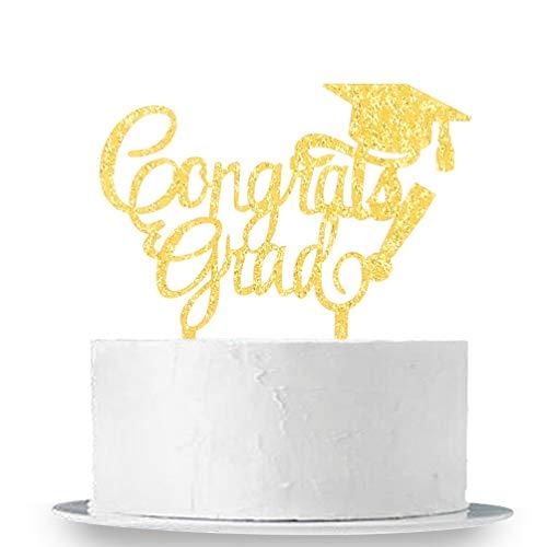 2019 Congrats Grad Cake Topper - Class of 2018 Graduate Party Decorations Supplies - High School Graduation, College Graduate Cake Topper -