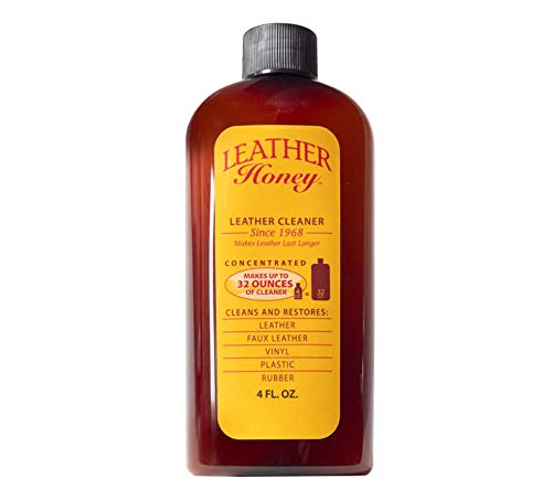 Leather Honey Leather Cleaner The Best Leather Cleaner for Vinyl and Leather Apparel, Furniture, Auto Interior, Shoes and Accessories. Concentrated Formula Makes 32 Ounces When Diluted!
