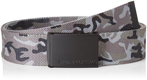 [해외]도시 클래식 캔버스 원단 벨트 최대 120cm-원 사이즈 / Urban Classics - CANVAS fabric belt adjustable up to 120cm - One Size