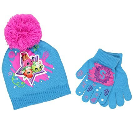 Shopkins Girls Beanie Hat and Gloves Set (Little Kid/Big Kid) ABG Accessories