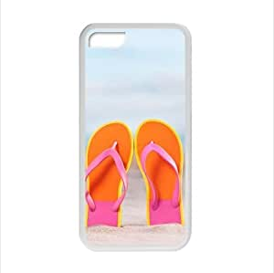 MMZ DIY PHONE CASEFashionable Design Funny Flip Flops,Slippers art,Sandals Apple ipod touch 5 Plastic and TPU (Laser Technology) Case Cover