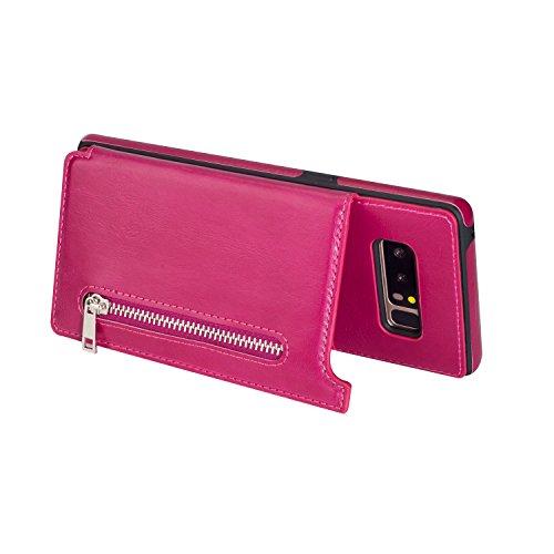 Galaxy S7 Edge Wallet scenario SUPZY jump Folio Zipper scenario using 3 slot Card Holder No Front Cover slimmer Protective PU Leather scenario For Samsung Galaxy S7 Edge Brown
