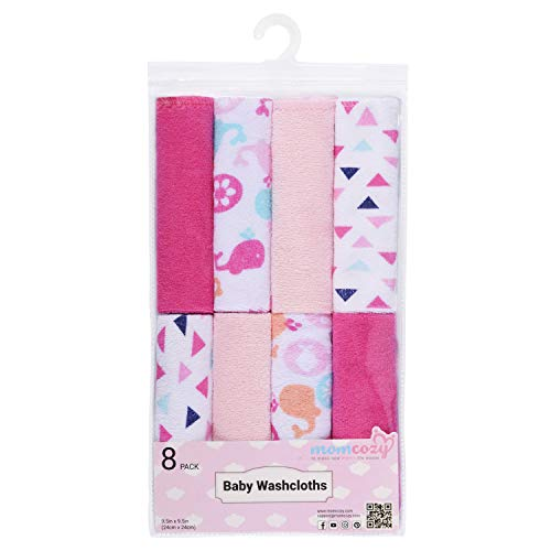 12 Piece Pink Spotted Play Baby Washcloths