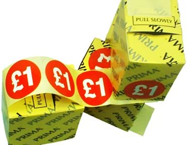 1000x Red Stickers /'£1.49/' Price Offer Shop Retail Self Adhesive Product Labels