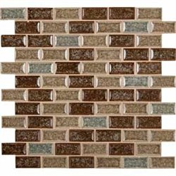 MS International Fossil Canyon 12 in. x 12 in. Crackled Glass Blend Mesh-Mounted Mosaic Tile - BOX OF 5 TILES by Marble 'n things