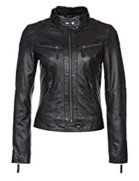 Women's Biker Motorcycle Jacket HOT Black Lambskin Leather Jacket