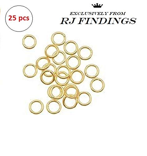 - 14K Gold Filled Open Jump Rings 4mm 21 Gauge (25 pieces pack)