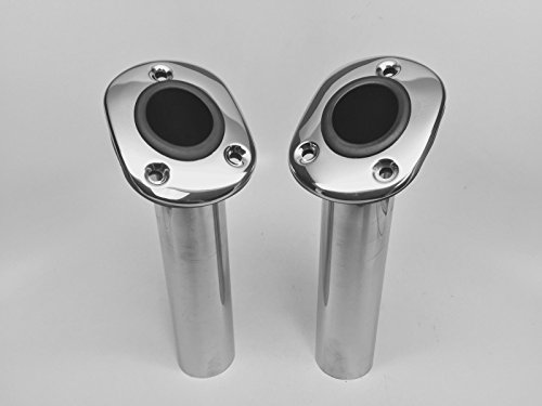 Cheap 2 PIECES STAINLESS STEEL 304 FISHING ROD HOLDER 9.5″ FLUSH MOUNT 30 DEGREES MARINE BOAT
