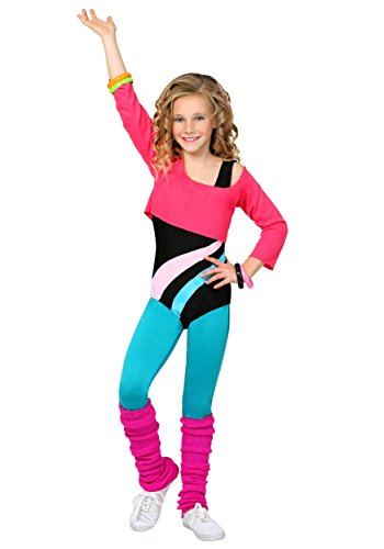 Child 80's Workout Girl Costume Small ()