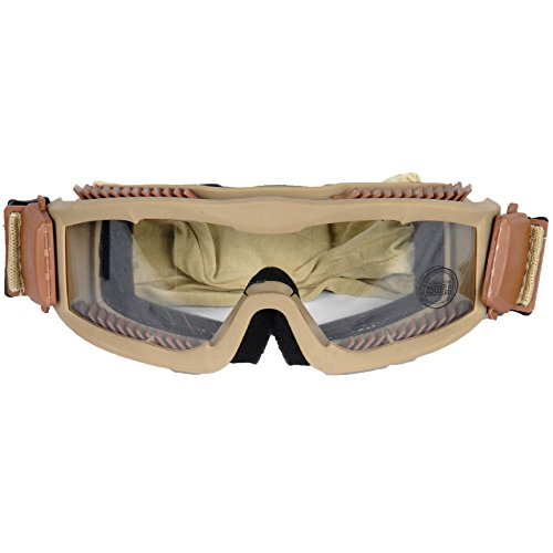 OFT VENTED SAFETY GOGGLES Glasses Eye Wear Googles TAN New ()