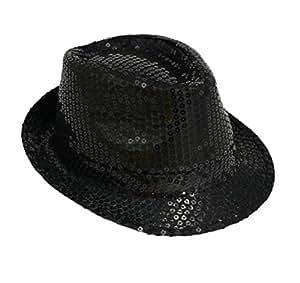 Michael Jackson Sequin Fancy Dress Fedora Trilby Hat (gorro/ sombrero)
