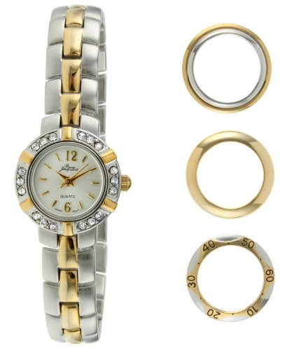 - Pierre Jacquard BZ5 Women's Two-Tone Bezel Interchangable Gift Set Watch