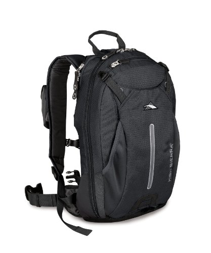 High Sierra Symmetry Frame Backpack, Black/Black, Outdoor Stuffs