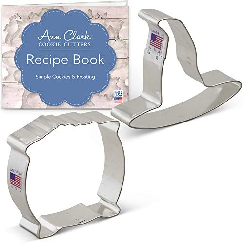 Witch's Cookie Cutter Set with Recipe Booklet - 2 piece - Witch's Hat and Cauldron - Ann Clark - USA Made Steel]()