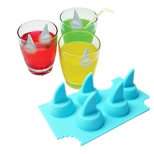 Fire And Ice Themed Costume (Lucrative shop Ice Tray Cool Shark Fin Shape Ice Cube Freeze Mold Ice Maker Mould 13.2*8.2*3.8cm)