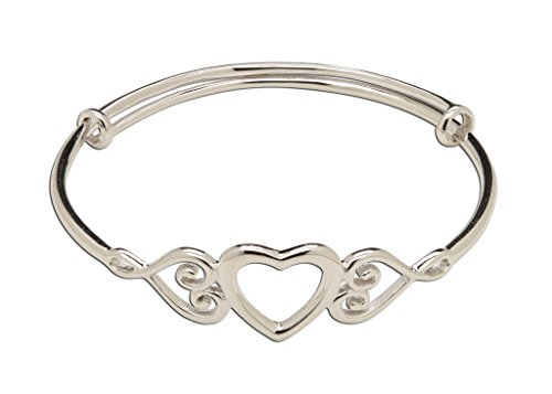 - Children's Sterling Silver Adjustable Heart Bangle (1-7 Years)