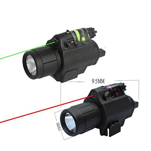 mimaniny 2 En 1 200 lumen Tactical Laser linterna Combo Tactical LED rojo de la vista Combo