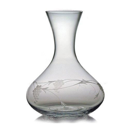 Susquehanna Glass Sonoma Grape Pattern Cut Glass Carafe, 64 (Glass Grape Pattern)
