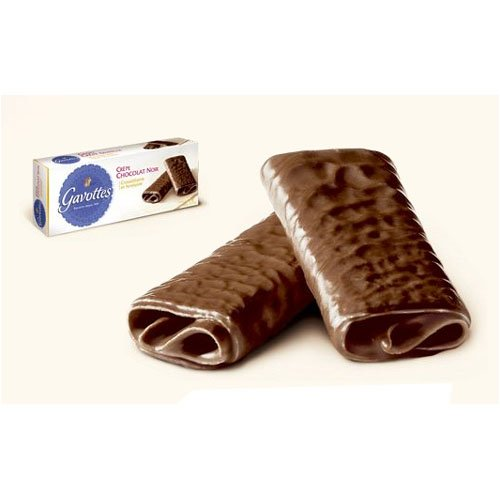 - Gavottes Dark Chocolate Crepe Dentelle Cookies 90 gram box, One