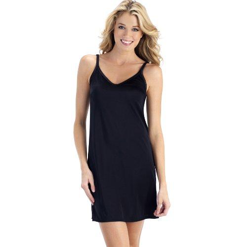 Vanity Fair Women's Spinslip 10158, Midnight Black, 36, 18 (Black Nylon Full Slip)
