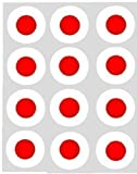 12 Japanese Flag rice paper fairy / cupcake 40mm toppers pre cut cake decoration