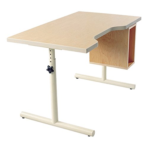 Knob-Adjusted Wheelchair Accessible School Desk - Flat Desktop