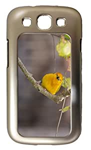 Samsung Galaxy S3 i9300 Cases Customized Gifts Cover Yellow Parrot on a branch Design